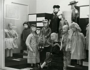 Black and white image of children's clothing