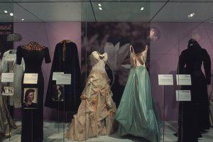 Exhibition display of feminine dress