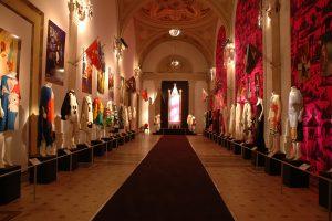 Long room exhibiting feminine dress