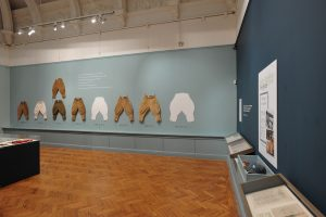 Exhibition display of women's breeches