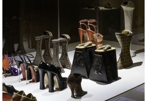 Exhibition display of shoes