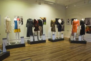 Exhibition shot with mannequins in gallery