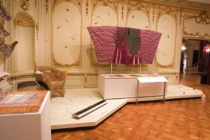 Exhibition installation of furnishings and textiles