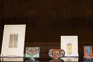 Exhibition display of vanity cases