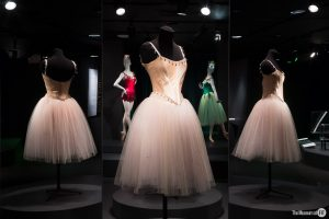 Exhibition display of dressed mannequins in ballerina clothing