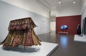Exhibition display of textiles