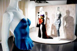 Exhibition display of mannequins in underwear