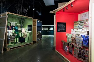 Exhibition display cabinets of knitwear