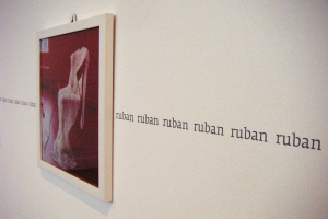 Exhibition display of wall mounted image