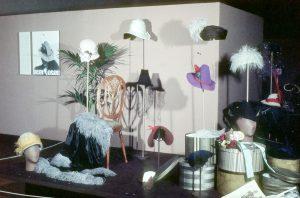 Exhibition display of hats