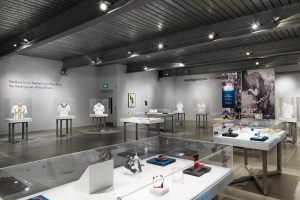 Exhibition display cases of jewellery