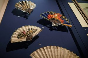 Exhibition display of open fans